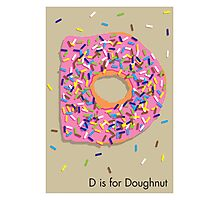 D is for Doughnut Photographic Print