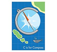 C is for Compass Photographic Print