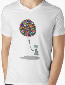 Frank's Balloons Mens V-Neck T-Shirt