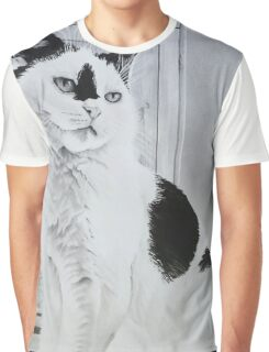 """Toots"" - Cat portrait Graphic T-Shirt"