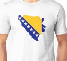 Bosnia and Herzegovina map flag Unisex T-Shirt
