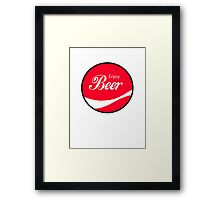 Enjoy Beer Framed Print