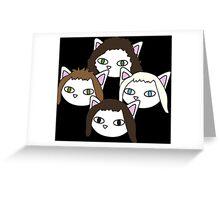 Meow rhapsody black Greeting Card