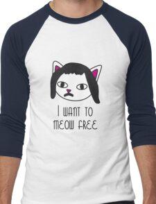 I want to meow free Men's Baseball ¾ T-Shirt