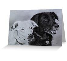 """Suki and Sam"" - Dog Portraits Greeting Card"