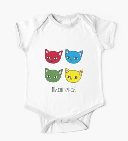 Meow space One Piece - Short Sleeve