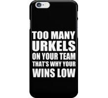 Too Many Urkels - Kanye West iPhone Case/Skin