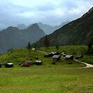 Huts at the Fedaia Pass by annalisa bianchetti