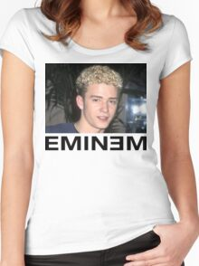 Eminem Justin Timberlake Nsync Funny Parody Women's Fitted Scoop T-Shirt