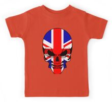 Skull with British Flag Kids Tee