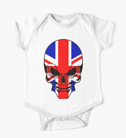 Skull with British Flag One Piece - Short Sleeve