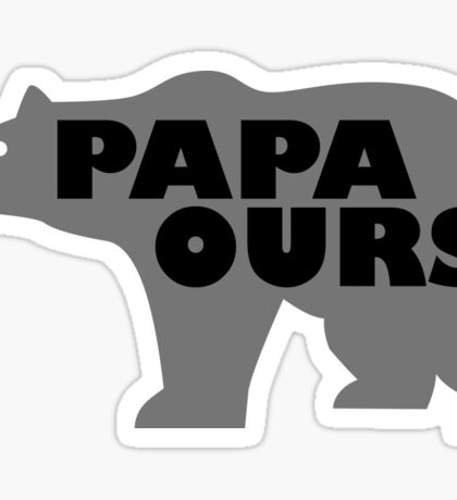 Papa Ours Sticker