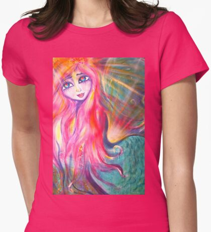 Madeline Mermaid Womens Fitted T-Shirt