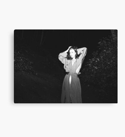 Searching for a Rabbit Hole Canvas Print