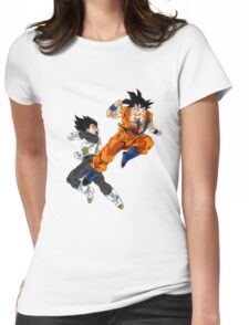 Goku vs Vegeta Womens Fitted T-Shirt