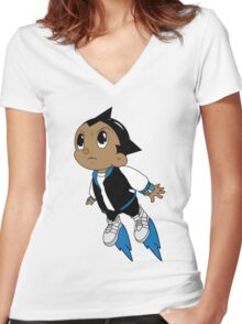 Astro West Women's Fitted V-Neck T-Shirt