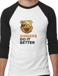 ROBUST Ginger bears black Men's Baseball ¾ T-Shirt