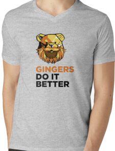 ROBUST Ginger bears black Mens V-Neck T-Shirt