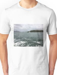 Boat ride with the Harbour Bridge in the distance, Sydney, Australia  Unisex T-Shirt