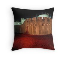 Poppies at the Tower of London - At Night #2 Throw Pillow