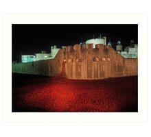 Poppies at the Tower of London - At Night #2 Art Print