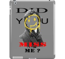 Did you miss me ? - Sherlock Holmes 4 iPad Case/Skin