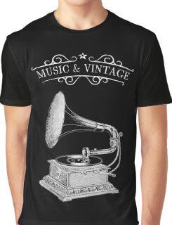Music & Vintage Graphic T-Shirt