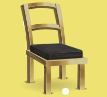 Glitch furniture chair brass metal chair One Piece - Short Sleeve