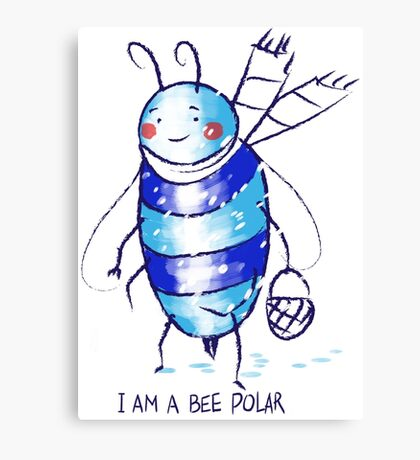 bee polar Canvas Print