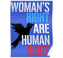 Woman's Right are Human Right Poster