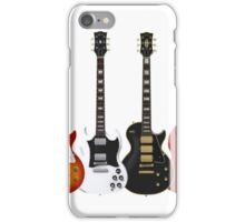 Four Electric Guitars Guitar Shirt Men iPhone Case/Skin