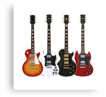Four Electric Guitars Guitar Shirt Men Canvas Print