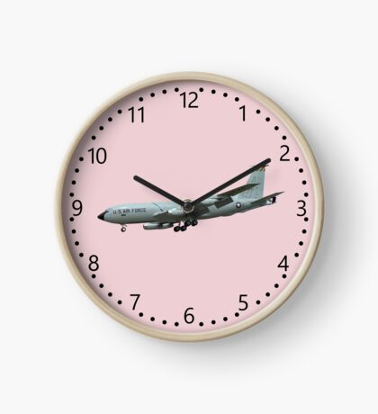 KC135A Stratotanker on Pink b/g and numbered dial Clock