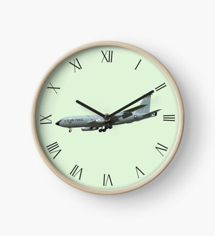 KC135A Stratotanker on Green b/g and Roman dial markings Clock