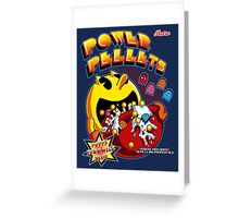 Power Pellets Greeting Card