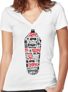 Graffiti is not a crime Women's Fitted V-Neck T-Shirt