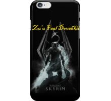 Skyrim: Zu'u Faal Dovahkiin (I am The Dragonborn) iPhone Case/Skin