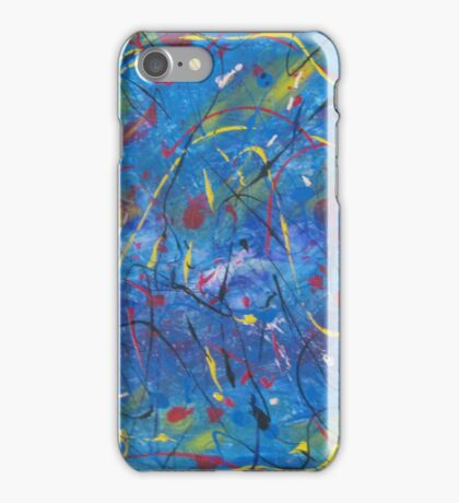 Sponge brush and lines abstract paint iPhone Case/Skin
