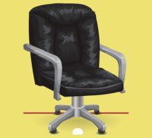 Glitch furniture chair chair blackleatheroffice Kids Tee