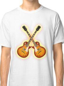 Double Gibson Les Paul Guitar Shirt Men Classic T-Shirt