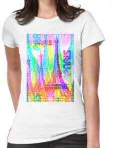 Paris France Tower Womens Fitted T-Shirt