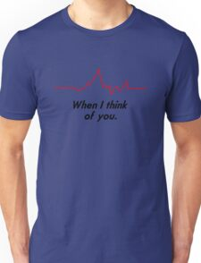 heartbeat thoughts Unisex T-Shirt