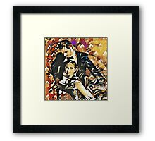 I am right behind you Framed Print