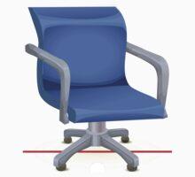 Glitch furniture chair chair blueplasticoffice Kids Tee