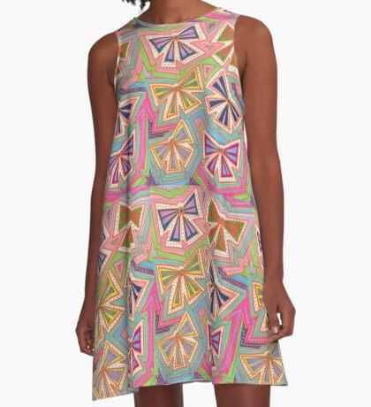 Colourful Bows A-Line Dress