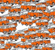 Multi Layer Bay Window Campervan Orange Sticker