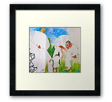 among giants Framed Print