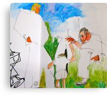 among giants Canvas Print