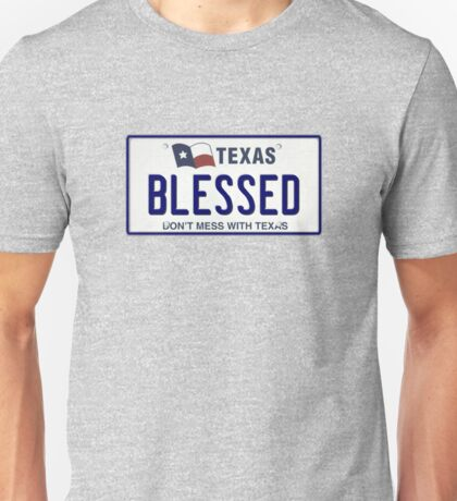 BLESSED TX Texas Pride Licensed Plate Unisex T-Shirt