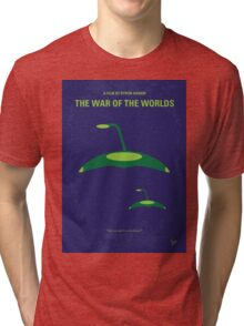 No118 My WAR OF THE WORLDS minimal movie poster Tri-blend T-Shirt